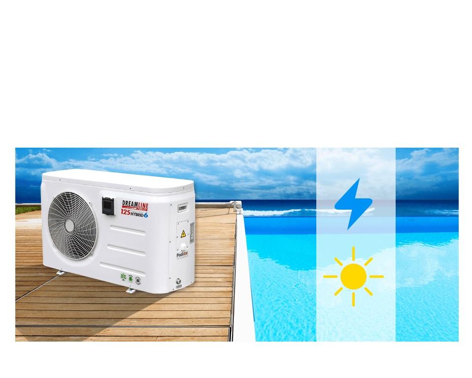 Toboggan de piscine luxe bleu vente de piscine coque for Pompe a chaleur piscine 3kw